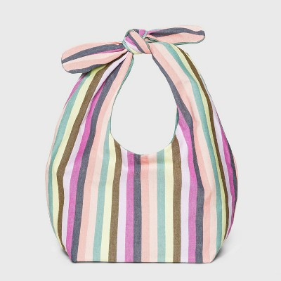 Girls' Reversible Striped Knotted Tote Handbag - Cat & Jack™