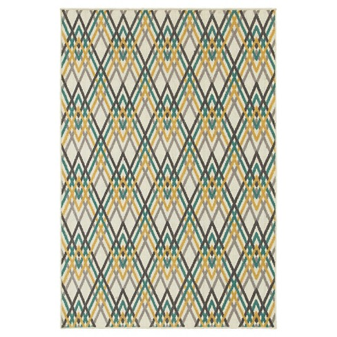 White/Gold Newport Groovy Rug - Oriental Weavers - image 1 of 1