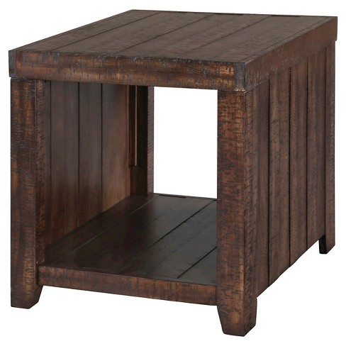 Caitlyn Rectangular End Table Distressed Natural - Magnussen Home - image 1 of 1