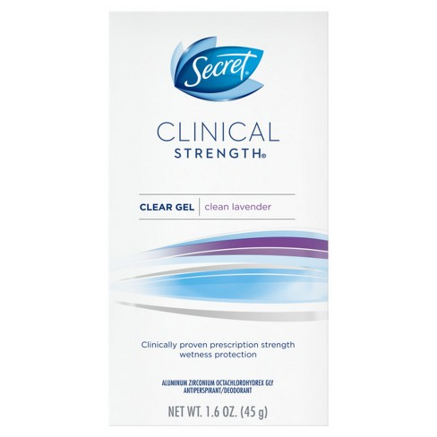 Secret Clinical Strength Clean Lavender Clear Gel Antiperspirant and Deodorant - 1.6oz - image 1 of 2