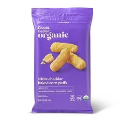 Organic White Cheddar Baked Puffs - 10oz - Good & Gather™