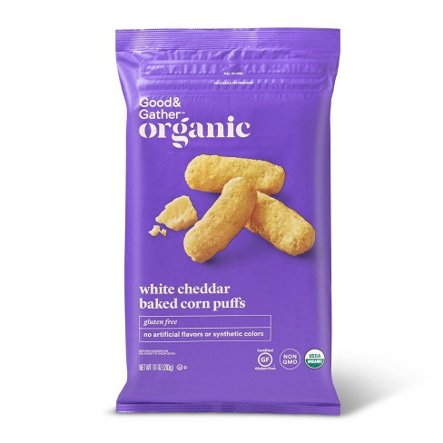 Organic White Cheddar Baked Puffs - 10oz - Good & Gather™ - image 1 of 3
