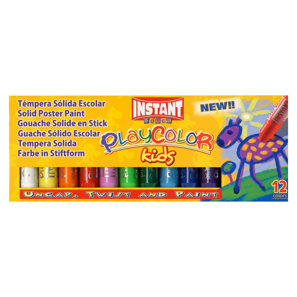 Image of Paint Sticks Basic Colors 12ct - Playcolor