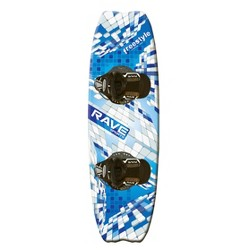 Rave Sports Freestyle Wakeboard with Striker Boots - Blue