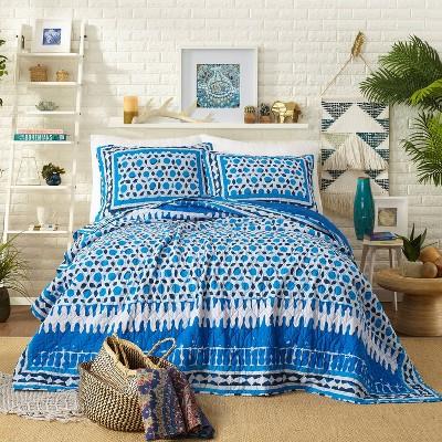 Blue Himaya Print Quilt Set (Full/Queen) - Justina Blakeney for Makers Collective