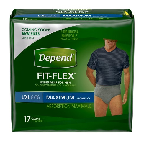 Depend Fit-Flex Incontinence Underwear for Men - Maximum Absorbency - Large/X-Large - 17ct - image 1 of 6