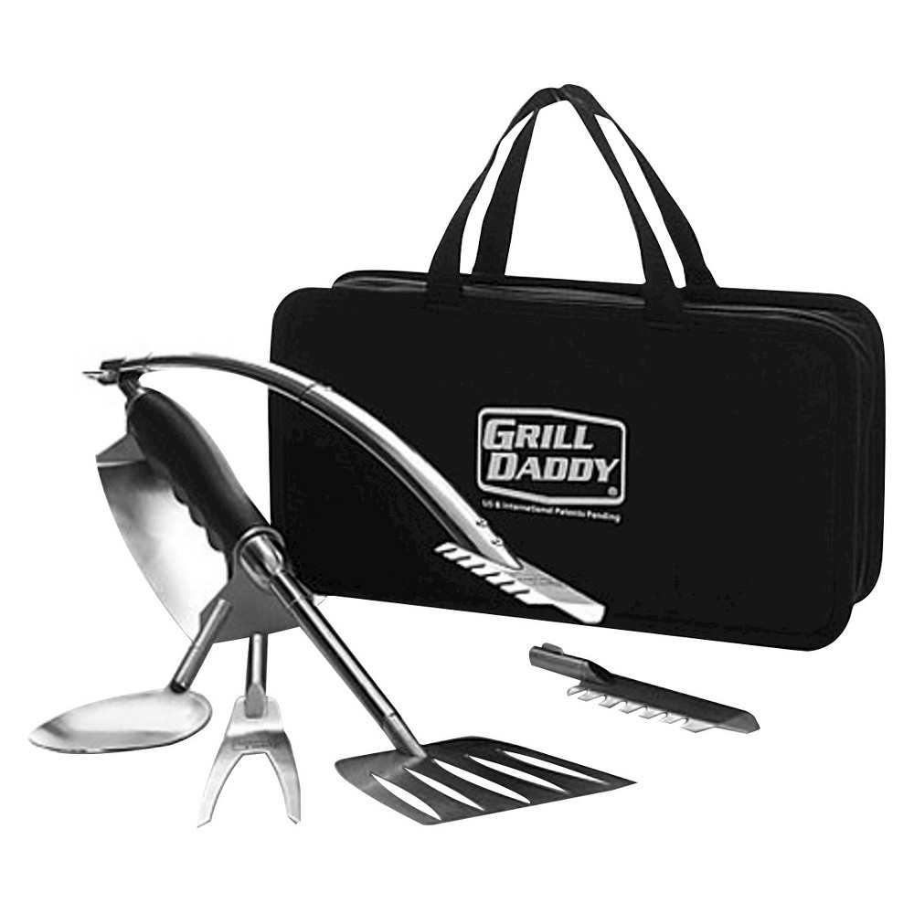 Grill Daddy 6 in 1 Bbq Tool Set, Silver