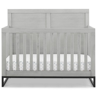 Simmons Kids' Foundry 6-in-1 Convertible Baby Crib - Rustic Mist with Matte Black