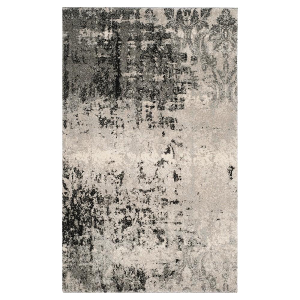 Kensington Area Rug - Light Gray / Gray ( 6' X 9' ) - Safavieh