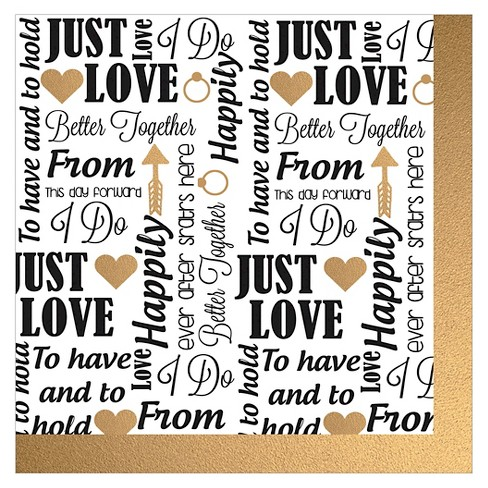 20ct Wedding Sayings Paper Cocktail Napkin - image 1 of 1