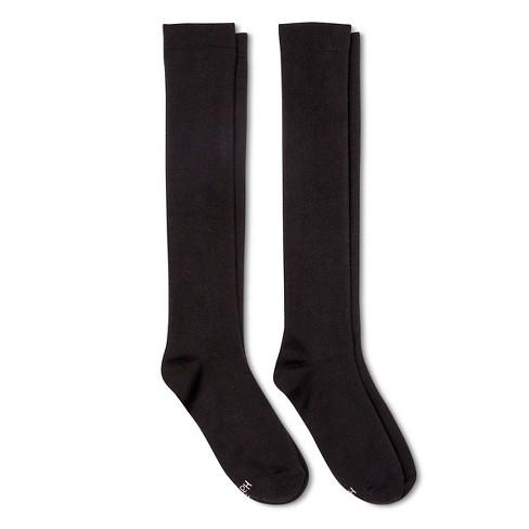 f79db717ec393 Hanes Women's 2pk Knee High Socks - Black 5-9 : Target