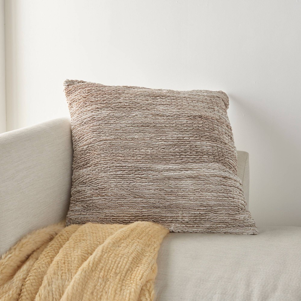 26 34 X26 34 Life Styles Woven Ribbon Loops Throw Pillow Beige Mina Victory