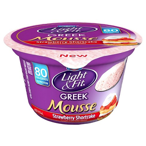 Dannon Light & Fit Cherry Cheesecake Greek Mousse Yogurt - 4oz - image 1 of 1