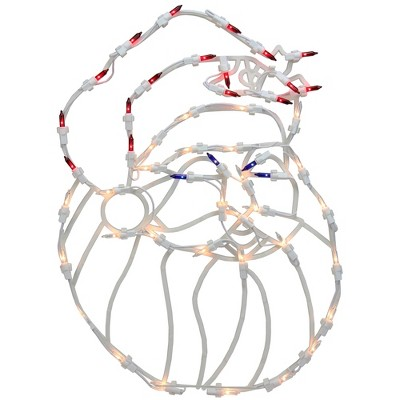 """Northlight 18"""" Red and White Lighted Santa Christmas Window Silhouette Decoration"""
