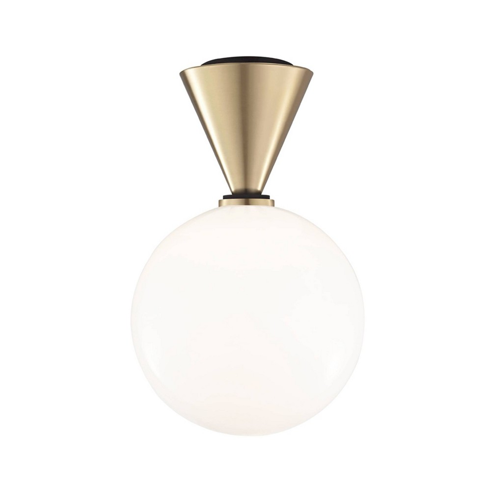 Piper Large LED Flush Mount Chandelier Aged Brass - Mitzi by Hudson Valley Compare