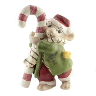 """Christmas 14.0"""" Chester Mouse Candy Cane Glasses Cheese  -  Decorative Figurines"""