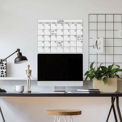 Basics Dry Erase Calendar Peel and Stick Giant Wall Decal - RoomMates