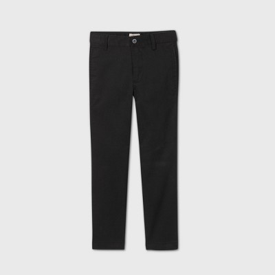 Boys' Flat Front Stretch Uniform Straight Fit Pants - Cat & Jack™ Black