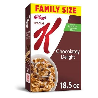 Special K Chocolately Delight Breakfast Cereal, Family Size - 18.5oz  - Kellogg's