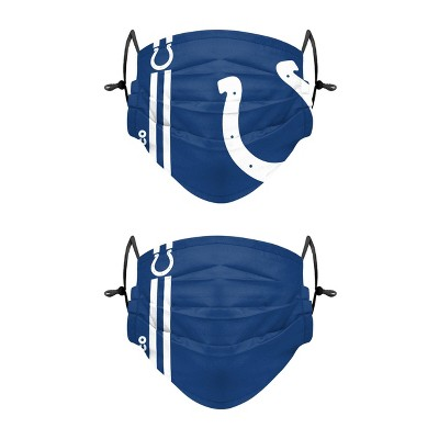 NFL Indianapolis Colts Adult Gameday Adjustable Face Covering - 2pk
