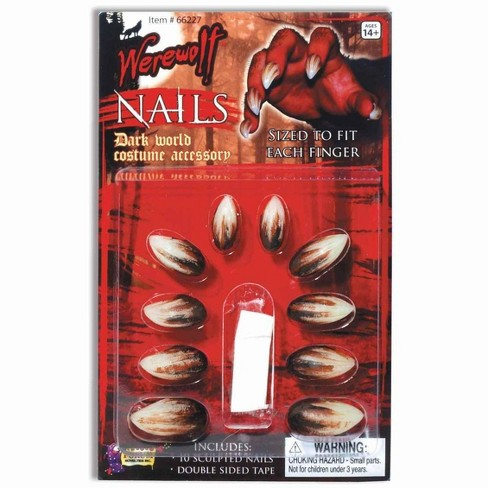 Forum Novelties Deluxe Werewolf Finger Claws/Nails Costume Accessory - image 1 of 1