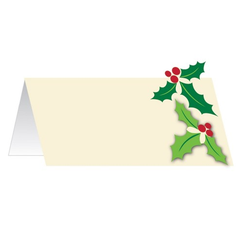 12ct Holly Place Cards Ivory - image 1 of 1