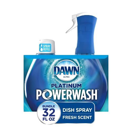 Dawn Platinum Powerwash Dish Spray, Dish Soap, Fresh Scent Bundle, 1 Starter-Kit (16 fl oz) plus 1 refill (16 fl oz ea) - image 1 of 4