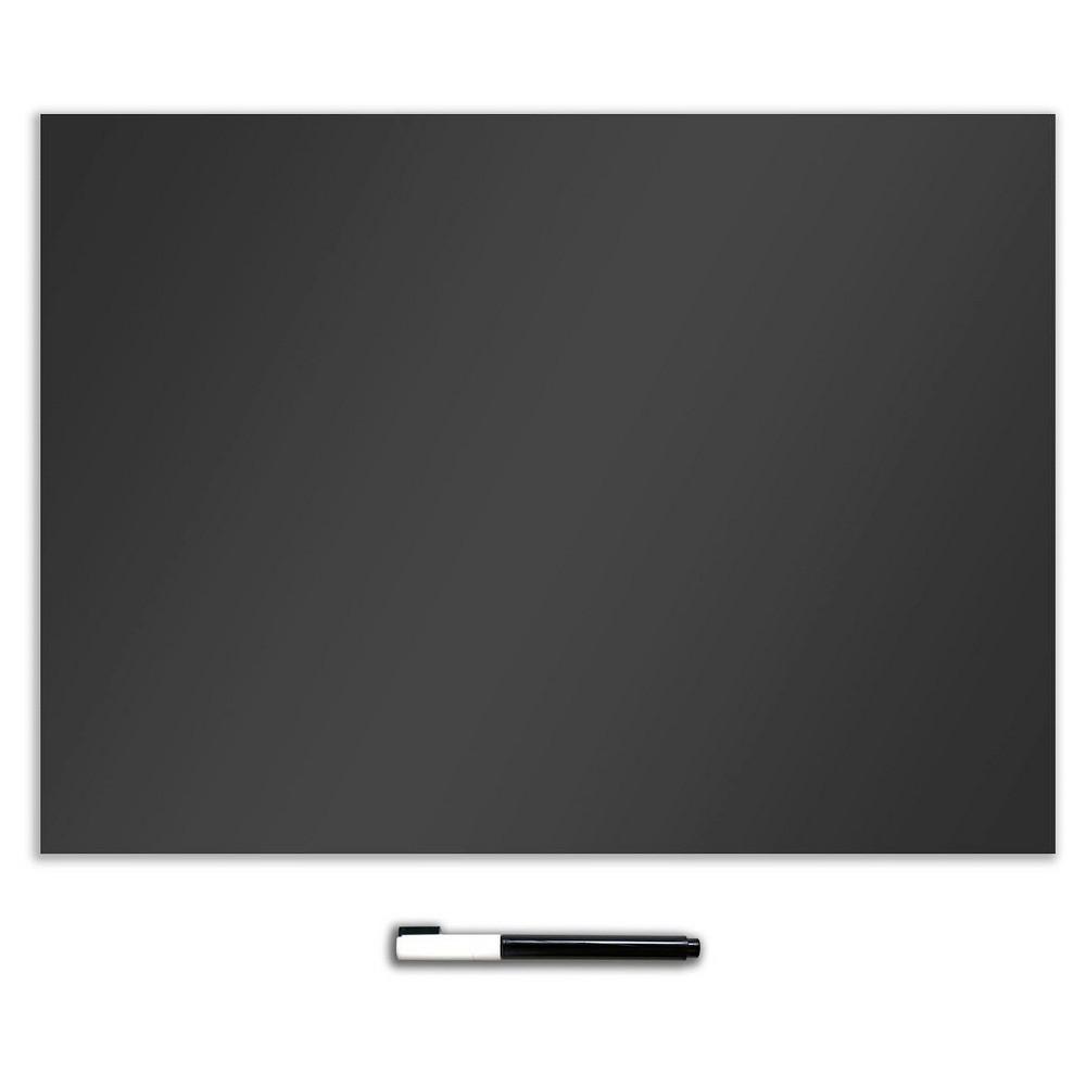Wall Pops! Dry Erase Board Decal 17.5 x 24 - Charcoal Chalk Board, Black