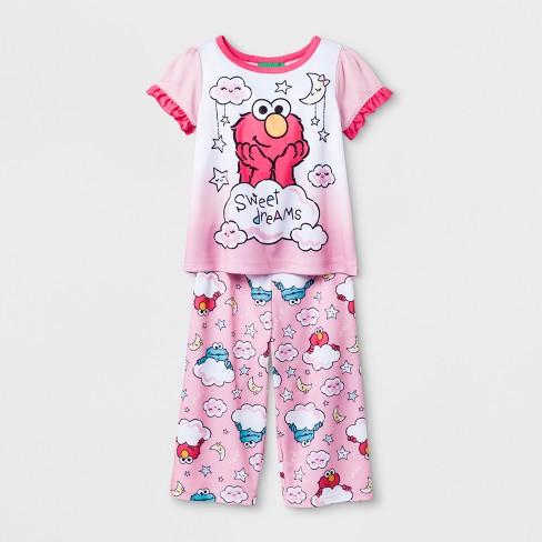 718d412e3 Baby Girls  Sesame Street 2pc Pajama Set - Pink 12 M   Target