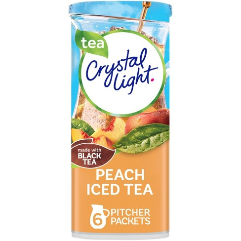 Crystal Light Peach Iced Tea Drink Mix - 6pk/0.25oz Pouches - image 1 of 4