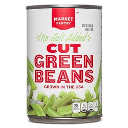 No Salt Added Cut Green Beans 14.5 oz - Market Pantry™
