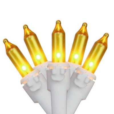 Brite Star 100ct Mini Ceramic String Lights Gold - 50' White Wire