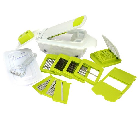 MegaChef 8 in 1 Multi-Use Slicer Dicer and Chopper with Interchangeable Blades, Vegetable and Fruit Peeler and Soft Slicer - image 1 of 4
