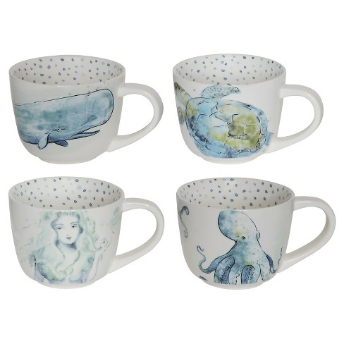 3R Studios Nautical 12oz Stoneware Mugs - Set of 4 - image 1 of 3