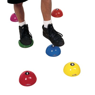 Sportime Numbered Step-N-Stones, 2-5/8 x 5-1/4 Inches, Assorted Colors, set of 6