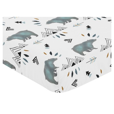 Sweet Jojo Designs Fitted Crib Sheet - Bear Mountain