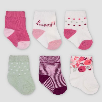 Baby Girls' 6pk Floral Socks - Just One You® made by carter's
