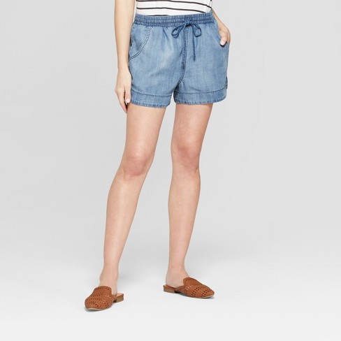 Image result for Women's Pull On Shorts - Universal Thread™ Blue