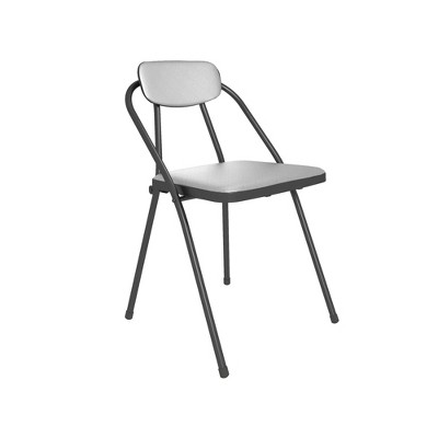 Cosco 4pk Stylaire Vinyl Padded Folding Chair Gray