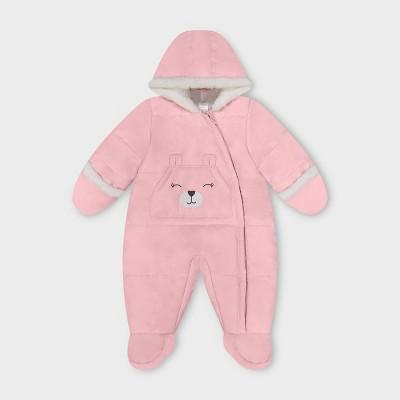 Baby Girls' Kangaroo Pocket Pram Snowsuit - Just One You® made by carter's Pink