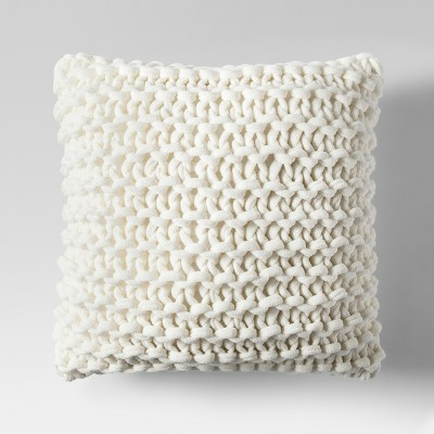 Cream Large Knit Throw Pillow - Project 62™