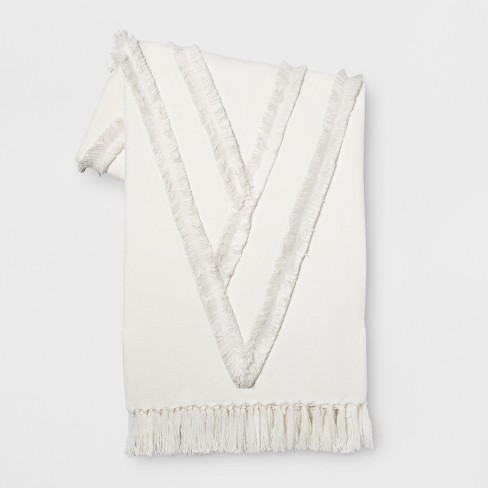 White Moroccan Wedding Oversized End of Bed Throw - Opalhouse™ - image 1 of 4