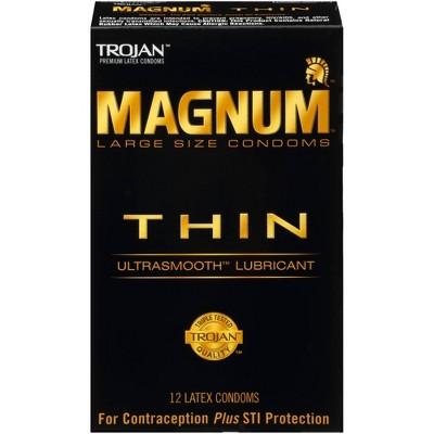 Trojan Magnum Thin Lubricated Condoms - 12ct