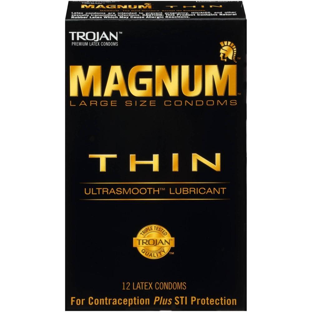 Trojan Magnum Thin Lubricated Condoms 12ct