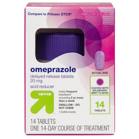 Omeprazole Acid Reducer Tablets - Wild Berry - 14ct - Up&Up™ - image 1 of 6