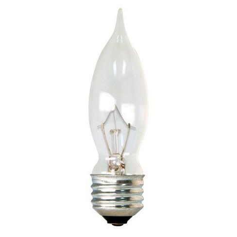 Ge 40 Watt Cam Long Life Incandescent Chandelier Light Bulb 4 Pack Soft White