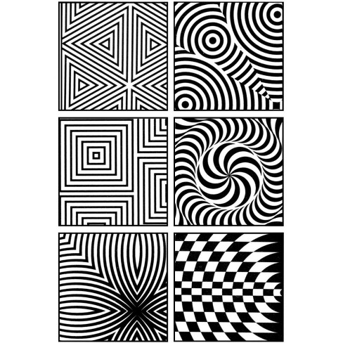 Jack Richeson Op Art Rubbing Plate, 7 x 7 Inches, set of 6 - image 1 of 1
