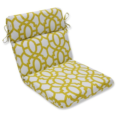 Pillow Perfect Nunu Geo Wasabi Outdoor One Piece Seat And Back Cushion - White - image 1 of 1