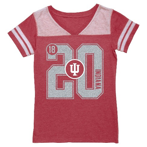 NCAA Indiana Hoosiers Girls' V-Neck Tunic Shirt - L - image 1 of 1