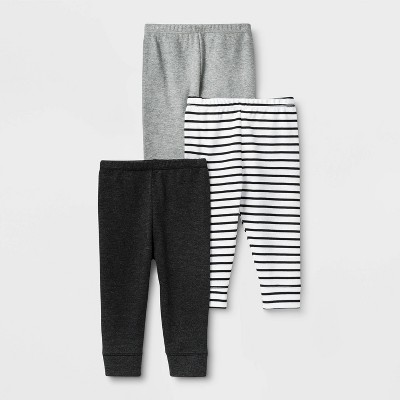 Baby 3pk Leggings - Cloud Island™ Black 0-3M